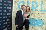 """Executive Producer Judd Apatow and Actress Leslie Mann attend the New York Premiere of the Sixth & Final Season of """"Girls""""  at Alice Tully Hall, Lincoln Center on February 2, 2017 in New York City."""