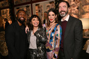 """Trevante Rhodes, Susanne Bier, Sandra Bullock, and Chris Morgan attend the New York Special Screening Of The Netflix Film """"BIRD BOX"""" at Alice Tully Hall on December 17, 2018 in New York City."""