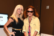 (L-R) Author, Astrophysicist and Professor of Physics and Astronomy, Florida International University Fiorella Terenzi, Ph. D. and Founder and Co-Chairman DvF Studio LLC Diane von Furstenberg attend the The New York Times International Luxury Conference at Mandarin Oriental on December 2, 2014 in Miami, Florida.
