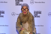 Iris Apfel attends the Speaker Dinner presented by Mercedes-Benz during The New York Times International Luxury Conference at the Moore Building on December 1, 2014 in Miami, Florida.