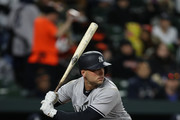 Matt Holliday #17 of the New York Yankees bats against the Baltimore Orioles at Oriole Park at Camden Yards on April 7, 2017 in Baltimore, Maryland.