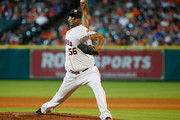 Roberto Hernandez #56 of the Houston Astros throws a pitch in the fifth inning during their game against the New York Yankees at Minute Maid Park on June 27, 2015 in Houston, Texas.