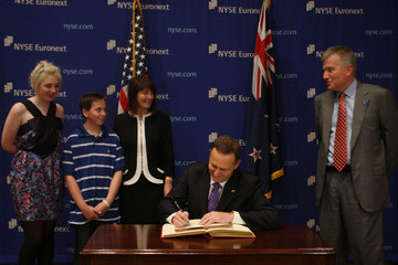 Duncan L. Niederauer New Zealand Prime Minister Visits New York Stock Exchange