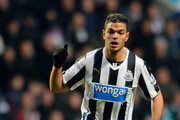 NEWCASTLE UPON TYNE ENGLAND, JANUARY 4: Hatem Ben Arfa of Newcastle in action during the Budweiser FA Cup Third Round match between Newcastle United and Cardiff City at St James Park on January 4, 2014 in Newcastle Upon Tyne, England.