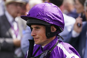 Ryan Moore poses at Newmarket Racecourse on July 14, 2018 in Newmarket, United Kingdom.