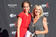 Actress Diana Koerner and her dauther Lara Joy Koerner attend the opening night of the Nibelungen festival on July 31, 2015 in Worms, Germany.