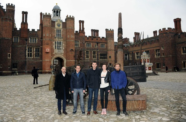 Jack The Giant Slayer - Photocall [jack the giant slayer,tourism,architecture,building,palace,castle,ch\u00e2teau,vacation,history,travel,medieval architecture,stanley tucci,ewan mcgregor,eleanor tomlinson,nicholas hoult,bryan singer,photocall,l-r,hampton court palace,england]