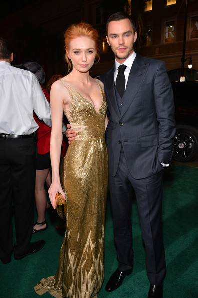 """Premiere Of New Line Cinema's """"Jack The Giant Slayer"""" - Red Carpet [jack the giant slayer,dress,carpet,suit,fashion,hairstyle,premiere,formal wear,event,red carpet,flooring,red carpet,eleanor tomlinson,nicholas hoult,tcl chinese theatre,california,new line cinema,l,premiere,premiere]"""