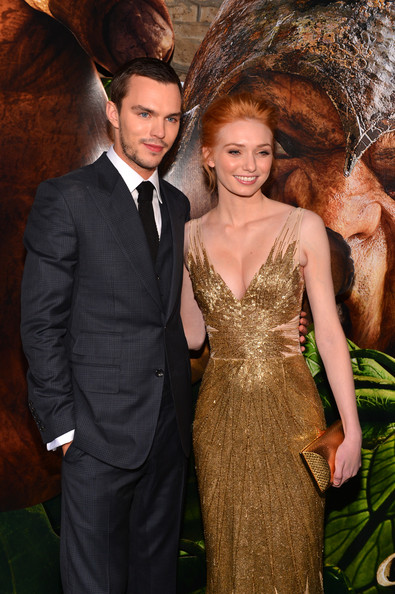 """Premiere Of New Line Cinema's """"Jack The Giant Slayer"""" - Red Carpet [jack the giant slayer,clothing,formal wear,dress,suit,hairstyle,fashion,event,cocktail dress,long hair,fun,red carpet,nicholas hoult,eleanor tomlinson,tcl chinese theatre,california,new line cinema,l,premiere,premiere]"""