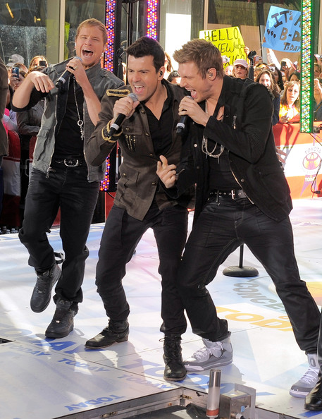 """New Kids On The Block And Backstreet Boys Perform On NBC's """"Today"""""""