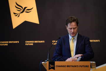 Nick Clegg Liberal Democrat EU Spokesperson Nick Clegg Makes His First Intervention in the Election Campaign
