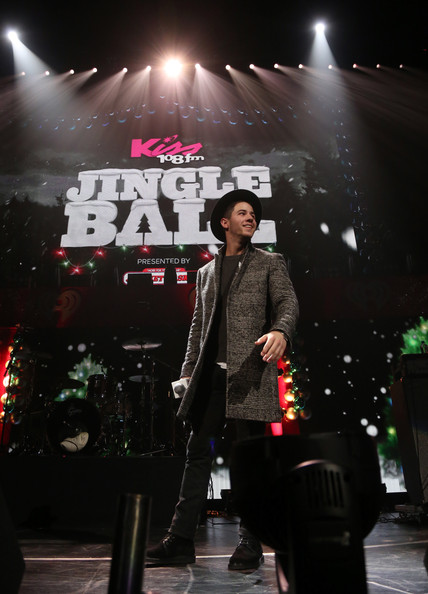 KISS 108's Jingle Ball 2014 - Show [performance,entertainment,stage,performing arts,musician,music,concert,event,public event,fashion,nick jonas,boston,massachusetts,td garden,kiss 108,market basket supermarkets,jingle ball 2014 - show]