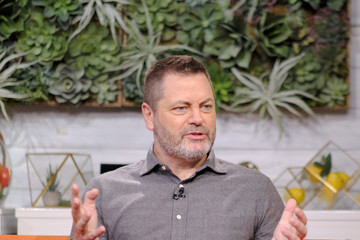 """Nick Offerman Celebrities Visit BuzzFeed's """"AM To DM"""" - March 11, 2020"""