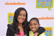 "(L-R) Actors Sydney Park and Tylen Jacob Williams of ""Instant Mom""  attend  Nickelodeon's 11th Annual Worldwide Day of Play at Prospect Park on September 20, 2014 in New York City."