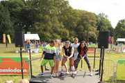 Actors Tylen Jacob Williams (L) and Sydney Park (R) attend Nickelodeon's 11th Annual Worldwide Day of Play at Prospect Park on September 20, 2014 in New York City.