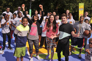 Actors  (L-R) Tylen Jacob Williams, Sydney Park,  Kira Kosarin and Jack Griffo participate in activities during Nickelodeon's 11th Annual Worldwide Day of Play at Prospect Park on September 20, 2014 in New York City.