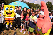 Actors  (L-R) Jack Griffo, Kira Kosarin, Sydney Park and Tylen Jacob Williams attend Nickelodeon's 11th Annual Worldwide Day of Play at Prospect Park on September 20, 2014 in New York City.