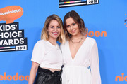 Candace Cameron Bure (L) and Natasha Bure attend Nickelodeon's 2018 Kids' Choice Awards at The Forum on March 24, 2018 in Inglewood, California.