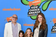 (L-R) Akiva Goldsman, Ever Goldsman, Lily Goldsman and Joann Richter attend Nickelodeon's 2018 Kids' Choice Awards at The Forum on March 24, 2018 in Inglewood, California.