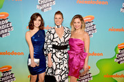 (L-R) Soni Nicole Bringas, Jodie Sweetin, and Candace Cameron Bure attend Nickelodeon's 2019 Kids' Choice Awards at Galen Center on March 23, 2019 in Los Angeles, California.