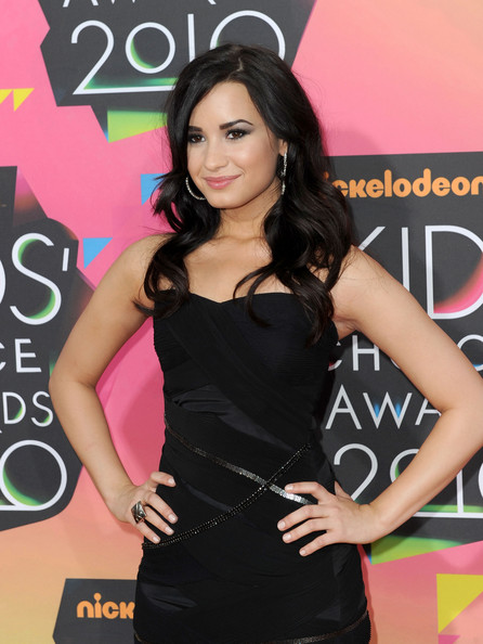 Actress Demi Lovato arrives at Nickelodeon's 23rd Annual Kid's Choice Awards held at UCLA's Pauley Pavilion on March 27, 2010 in Los Angeles, California.