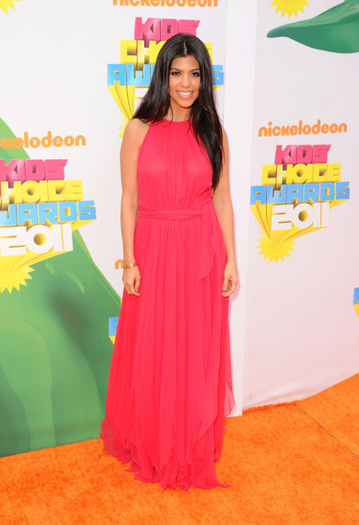 TV personality Kourtney Kardashian arrives at Nickelodeon's 24th Annual Kids' Choice Awards at Galen Center on April 2, 2011 in Los Angeles, California.