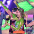 Jesse Tyler Ferguson Sarah Hyland Photos - (L-R) Actors Jesse Tyler Ferguson, Rico Rodriguez, Sarah Hyland and Ariel Winter get slimed as they accept award for Favorite Family TV Show for Modern Family onstage during Nickelodeon's 28th Annual Kids' Choice Awards held at The Forum on March 28, 2015 in Inglewood, California. - Nickelodeon's 28th Annual Kids' Choice Awards - Show