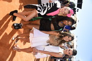 (L-R) TV personalities  JoJo Siwa, Nia Frazier, Kalani Hilliker and Kendall Vertes attend Nickelodeon's 28th Annual Kids' Choice Awards held at The Forum on March 28, 2015 in Inglewood, California.