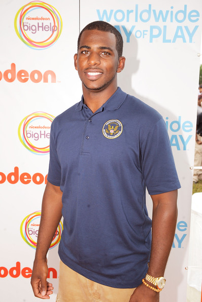 NBA Player Chris Paul celebrates Nickelodeon's largest ever Worldwide Day of Play at the Ellipse on September 24, 2011 in Washington, DC.