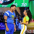 Russell Wilson Photos - (L-R) Russell Wilson and Liza Koshy attend Nickelodeon's Double Dare Takes The Gridiron At Super Bowl LIII at Georgia World Congress Center on January 31, 2019 in Atlanta, Georgia. - Nickelodeon's Double Dare Takes The Gridiron At Super Bowl LIII