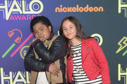 Actors Lil' P-Nut (L) and Breanna Yde attend the Sixth Annual Nickelodeon HALO Awards in New York City. The hour-long concert special will premiere Sunday, Nov. 30, at 7 p.m. (ET/PT) across Nickelodeon networks (Nickelodeon, TeenNick, Nicktoons).