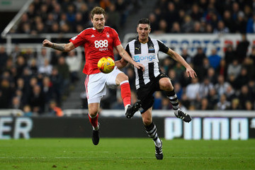 Nicklas Bendtner Newcastle United v Nottingham Forest - Sky Bet Championship