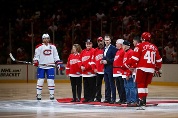 Nicklas Lidstrom Montreal Canadiens v Detroit Red Wings