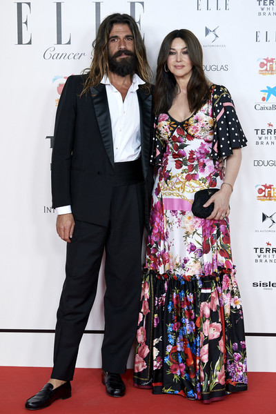 ELLE Charity Gala 2019 In Madrid [red carpet,carpet,premiere,fashion,event,fashion design,suit,flooring,award,formal wear,monica bellucci,nicolas lefebvre,cancer,funds,madrid,spain,intercontinental hotel,elle charity gala]