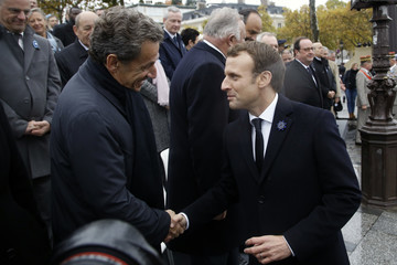 Nicolas Sarkozy Commemoration of Armistice Day in Paris