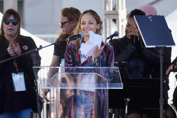 Nicole Richie Women's March Los Angeles 2018