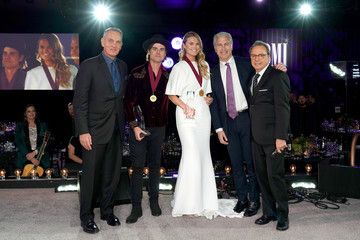 Nicolle Galyon Dwight Yoakam With President's Award At 67th Annual Country Awards Dinner - Show