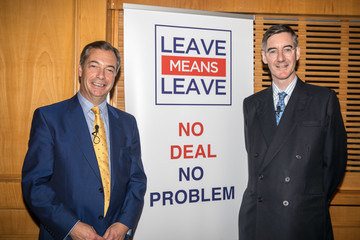 Nigel Farage Leave Means Leave Supporters Walkabout And Rally In Torquay