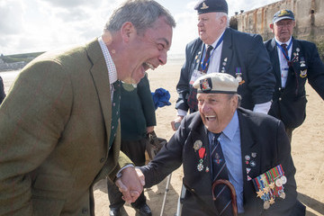 Nigel Farage Black Cab Charity Takes WWII Veterans Back to the Beaches of Northern France for Last Time