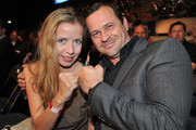 Michel Guillaume and his girlfriend Georgia Schultze attend the 'Night Of The Champions' Box Event at the Olypia Eisstadion on May 28, 2011 in Munich, Germany.
