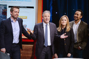 (L-R)  Jason Jones, Jon Stewart, Samantha Bee, and Aasif Mandvi attend The Night Of Too Many Start Live Telethon on March 8, 2015 in New York City.