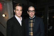 "Chris Pine (L) and Zachary Quinto attend the ""I Am the Night"" Premiere at Metrograph on January 22, 2019 in New York City. 484171"