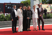 Official competition jury members Paolo Genovese, , Malgorzata Szumowska,  Naomi Watts,  Nicole Garcia,  Trine Dyrholm and Taika Waititi walk the red carpet ahead of the 'The Nightingale' screening during the 75th Venice Film Festival at Sala Grande on September 6, 2018 in Venice, Italy.