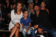 TV personalities Melissa Gorga, Joe Gorga and son Gino Gorga attend the Nike/Levi's Kids Rock! fashion show during Spring 2016 New York Fashion Week at the The Dock, Skylight at Moynihan Station on September 10, 2015 in New York City.
