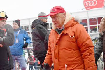 Niki Lauda Celebrities Attend Hahnenkamm Race Weekend