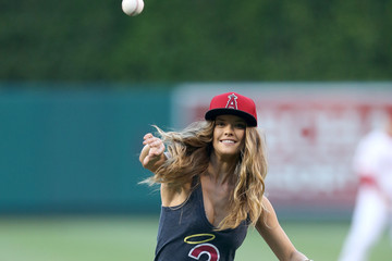 Nina Agdal Chicago White Sox v Los Angeles Angels of Anaheim