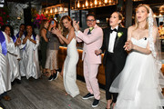 "Erin Foster, Dj Quintero, Sara Foster and Nina Agdal celebrate ""Knot-A-Real-Wedding"" in honor of Conair's The Knot Dr. Detangling Brush in New York City."