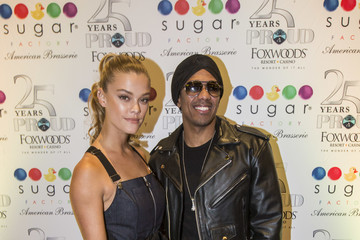 Nina Agdal Nick Cannon and Nina Agdal Host Sugar Factory American Brassiere Grand Opening at Foxwoods Resort Casino