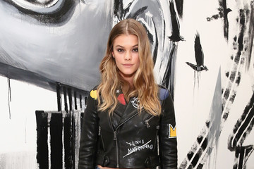 Nina Agdal alice + olivia x Basquiat CFDA Capsule Collection Launch Party