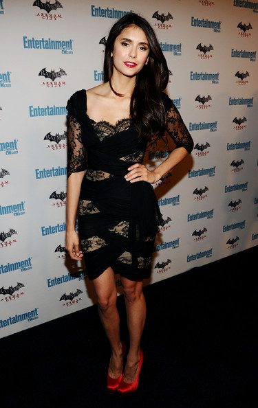 Nina Dobrev Actress Nina Dobrev arrives at Entertainment Weekly's 5th Annual Comic-Con Celebration sponsored by Batman: Arkham City held at Float, Hard Rock Hotel San Diego on July 23, 2011 in San Diego, California.